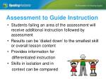 assessment to guide instruction7