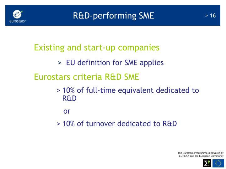 R&D-performing SME