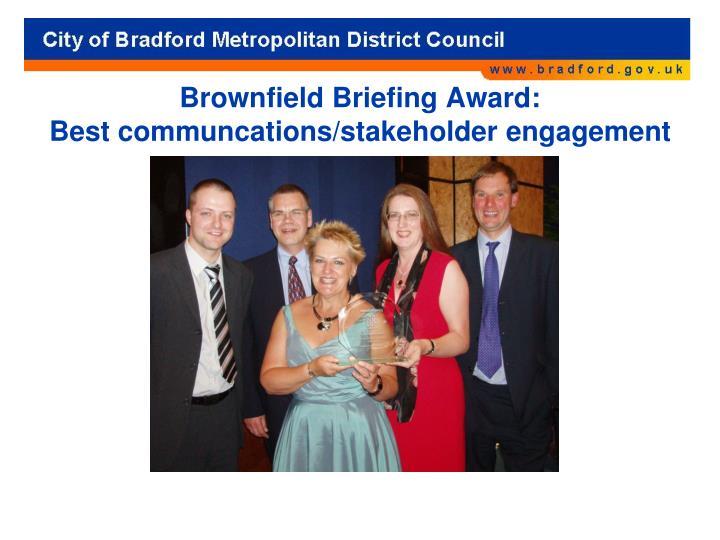 Brownfield Briefing Award: