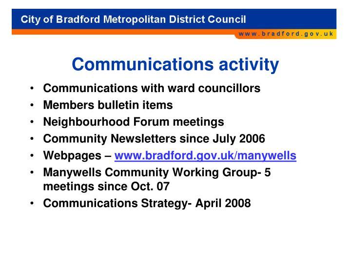 Communications activity