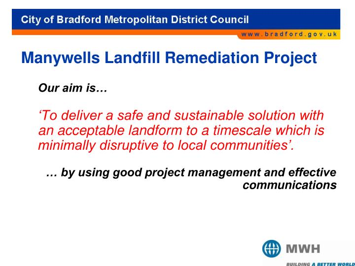 Manywells Landfill Remediation Project