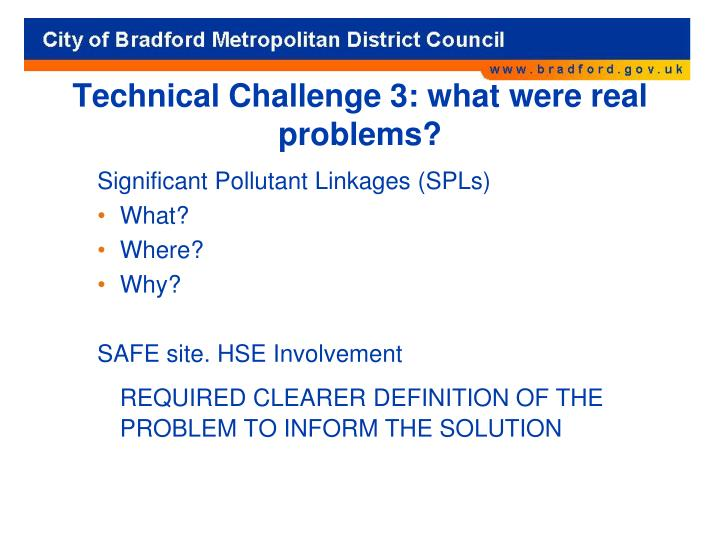 Technical Challenge 3: what were real problems?