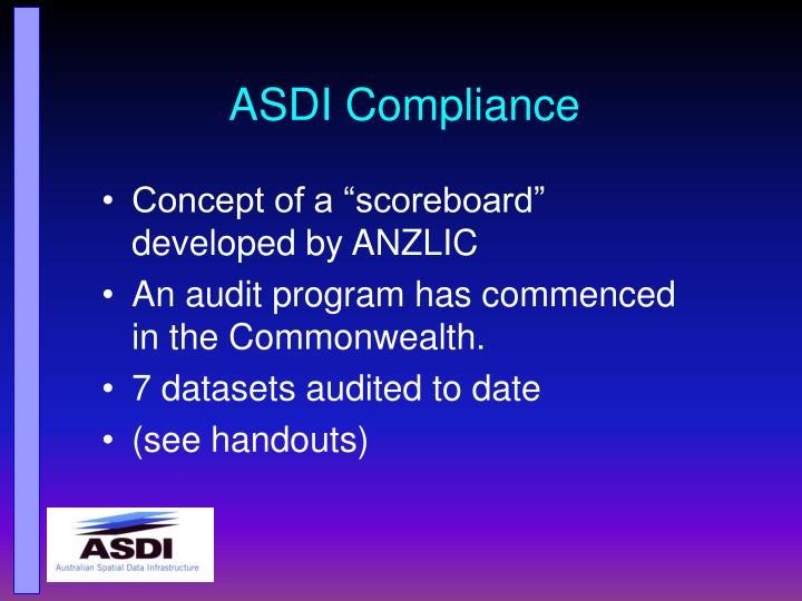 ASDI Compliance