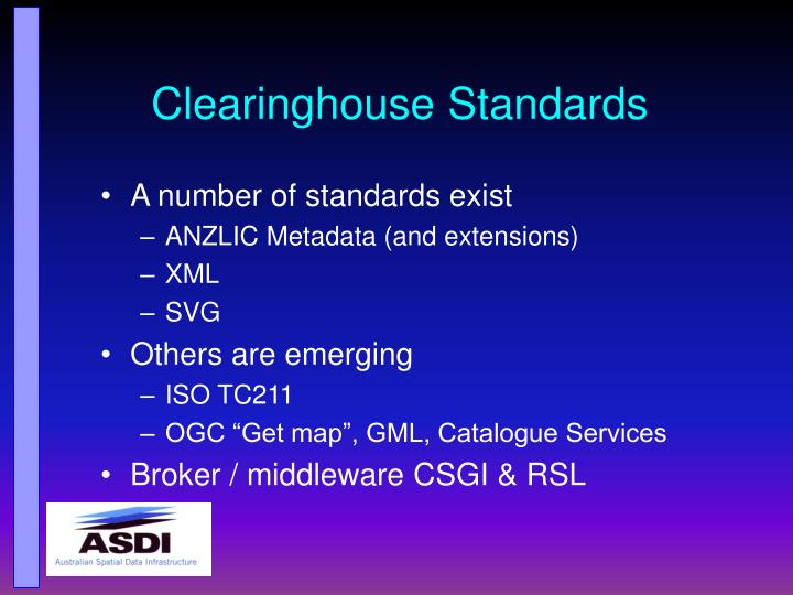 Clearinghouse Standards