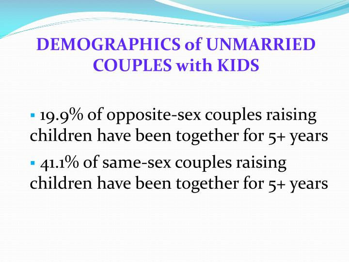 DEMOGRAPHICS of UNMARRIED COUPLES with KIDS