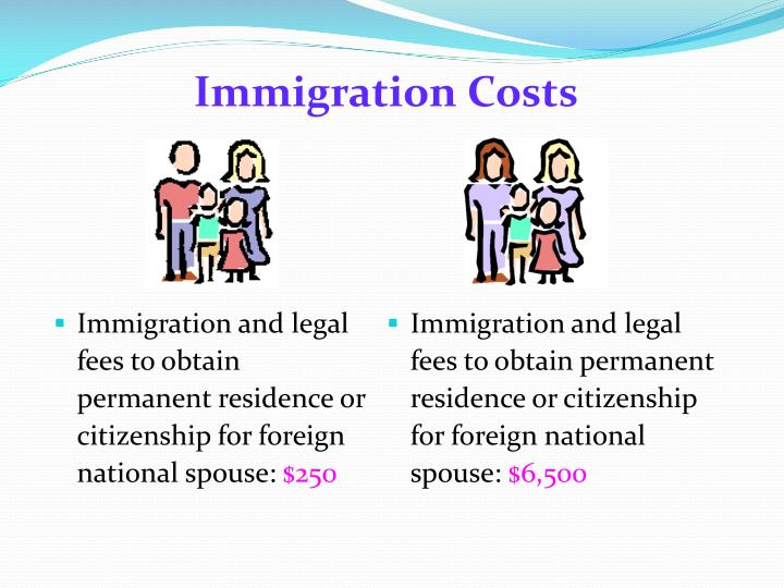 Immigration Costs