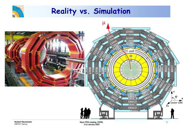 Reality vs simulation