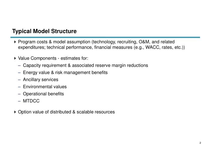 Typical model structure