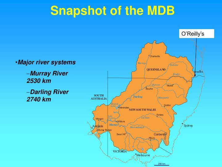 Snapshot of the mdb