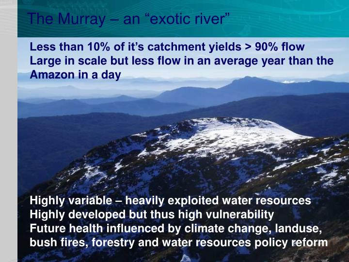 "The Murray – an ""exotic river"""
