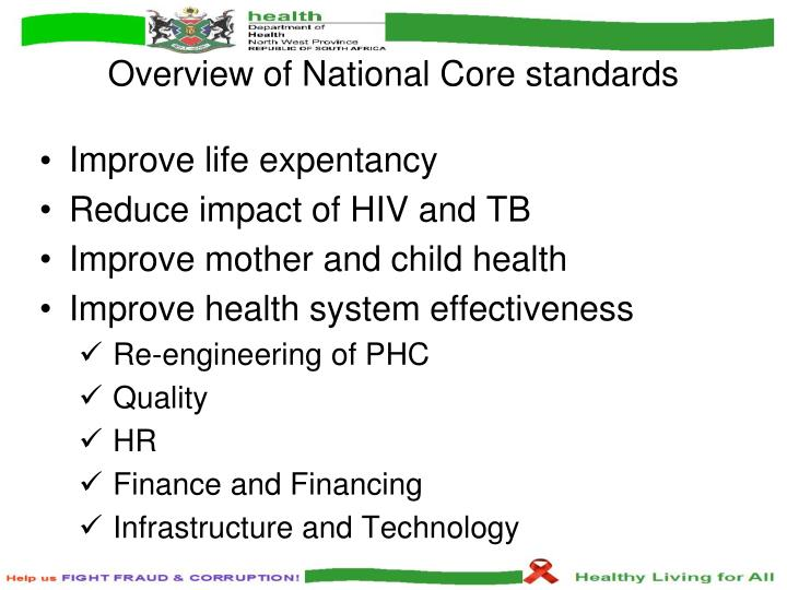 Overview of national core standards