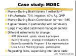case study mdbc