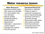 water resource issues