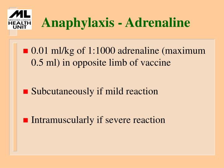 Anaphylaxis - Adrenaline
