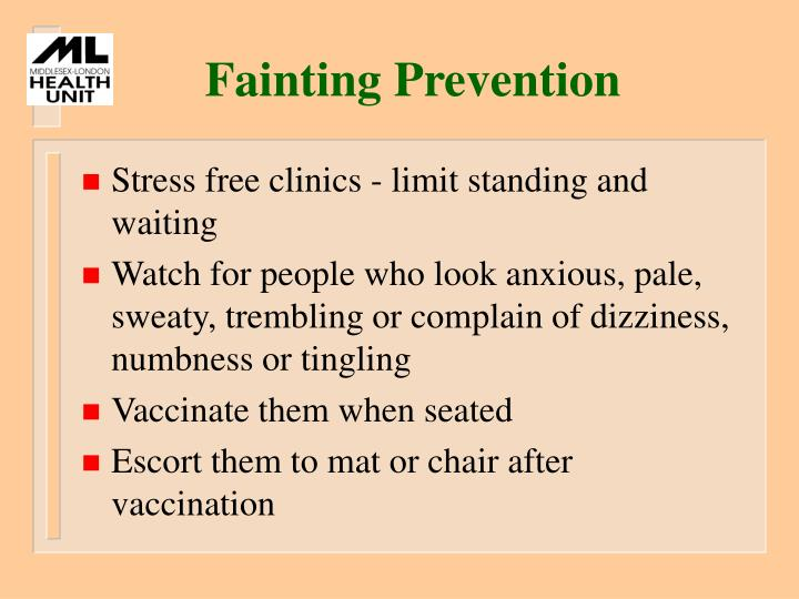 Fainting Prevention