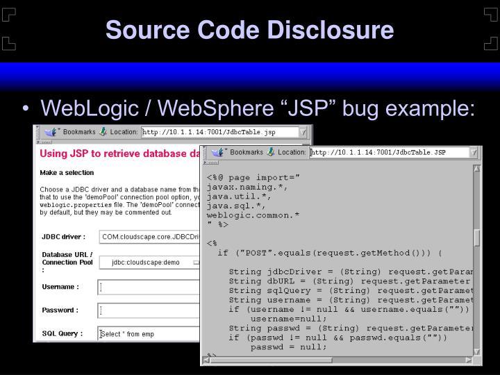 Source Code Disclosure
