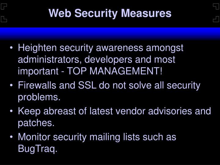 Web Security Measures
