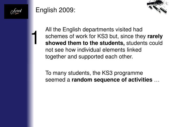 English 2009: