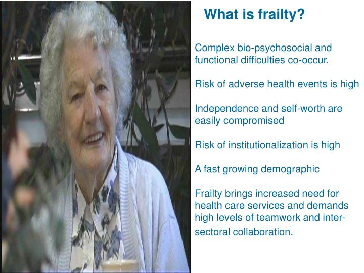 What is frailty?