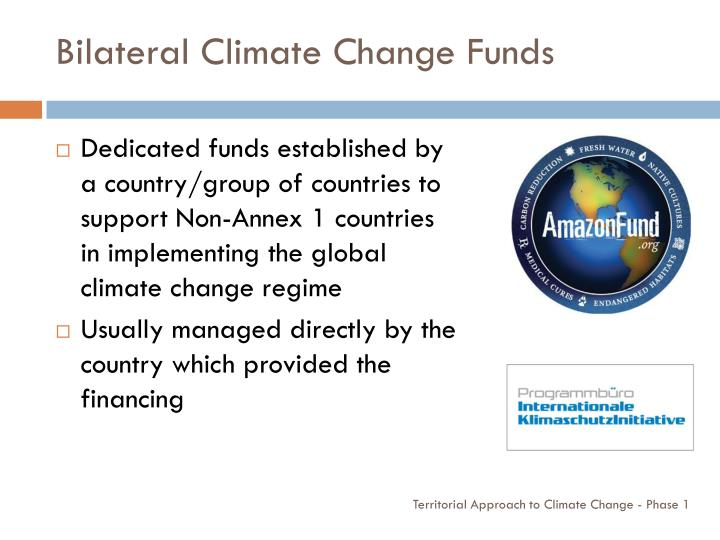Bilateral Climate Change Funds