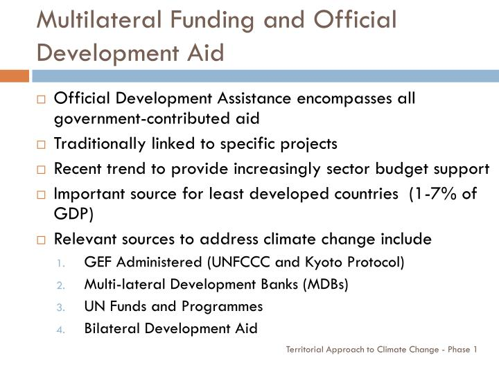 Multilateral Funding and Official Development Aid