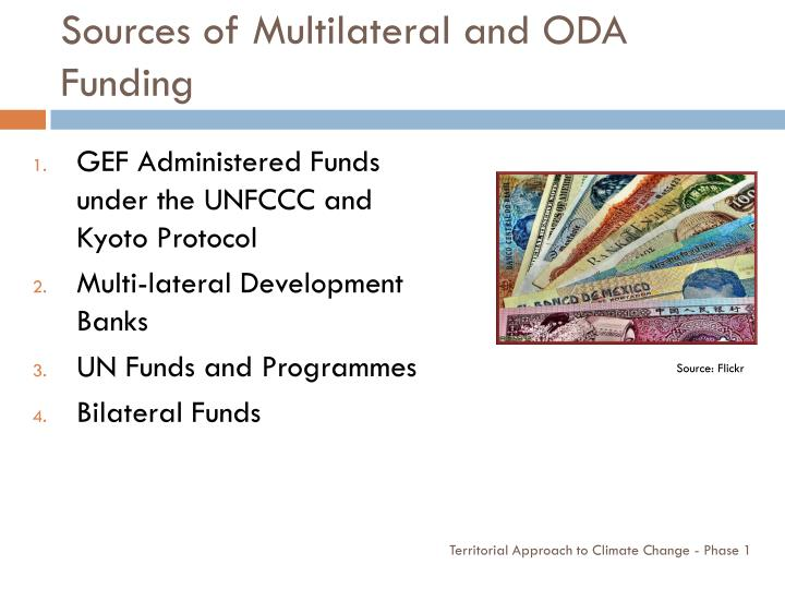 Sources of Multilateral and ODA Funding