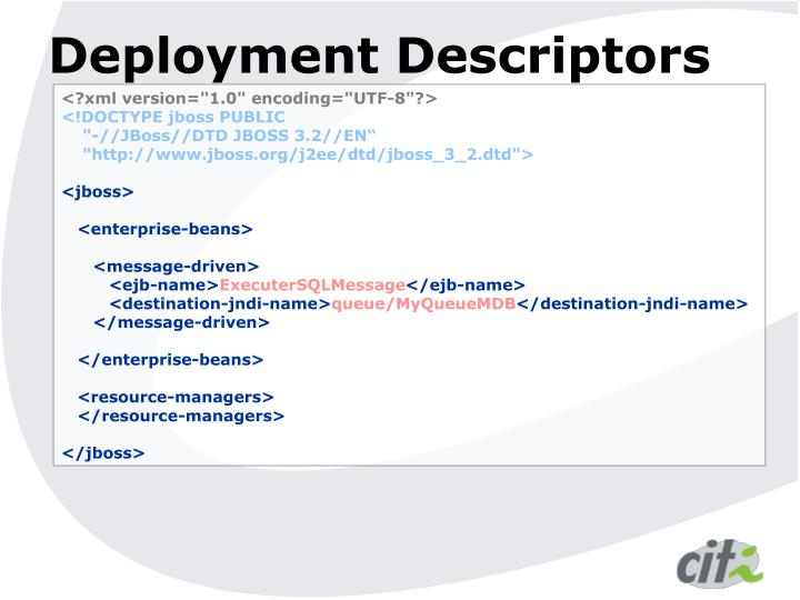 Deployment Descriptors