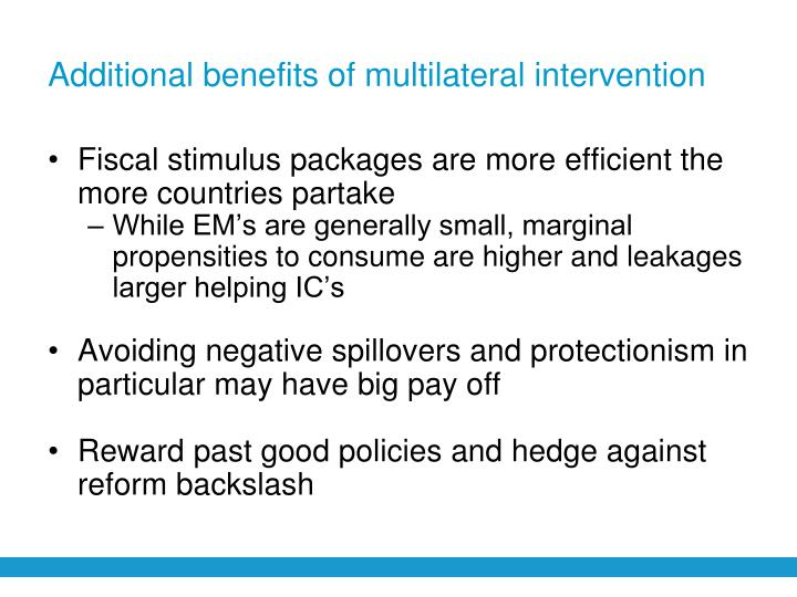 Additional benefits of multilateral intervention