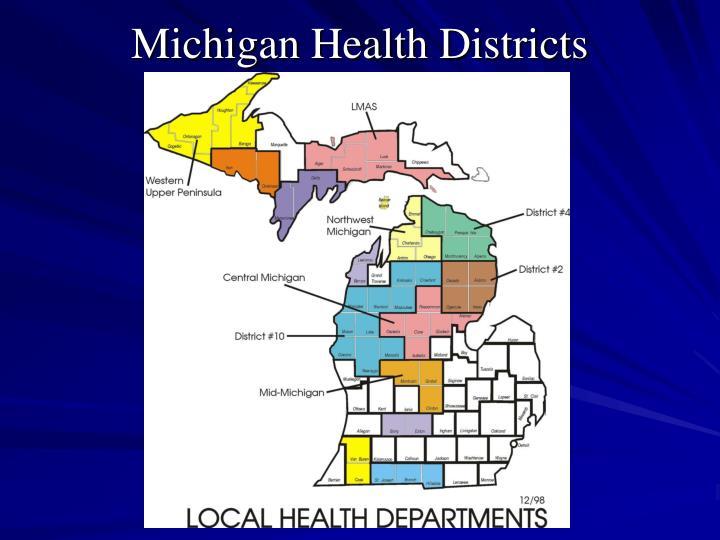 Michigan Health Districts