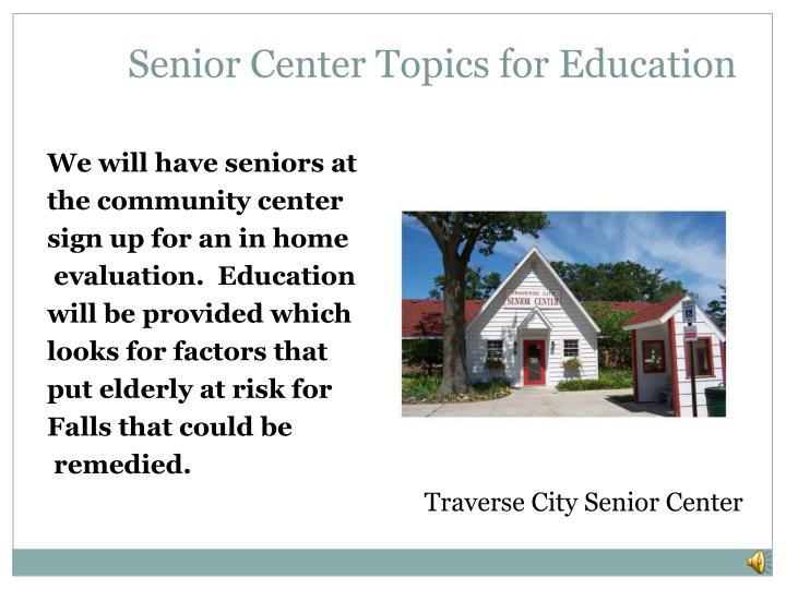 Senior Center Topics for Education