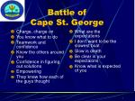 battle of cape st george
