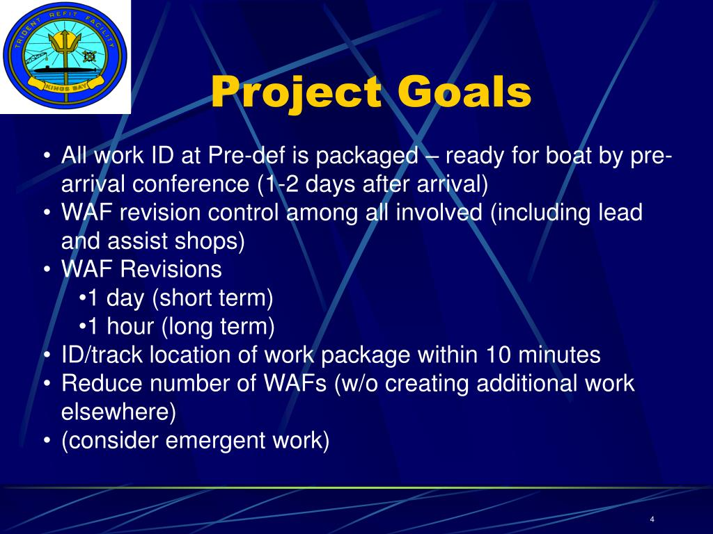 PPT - WAF-WPC Project Trident Refit Facility PowerPoint