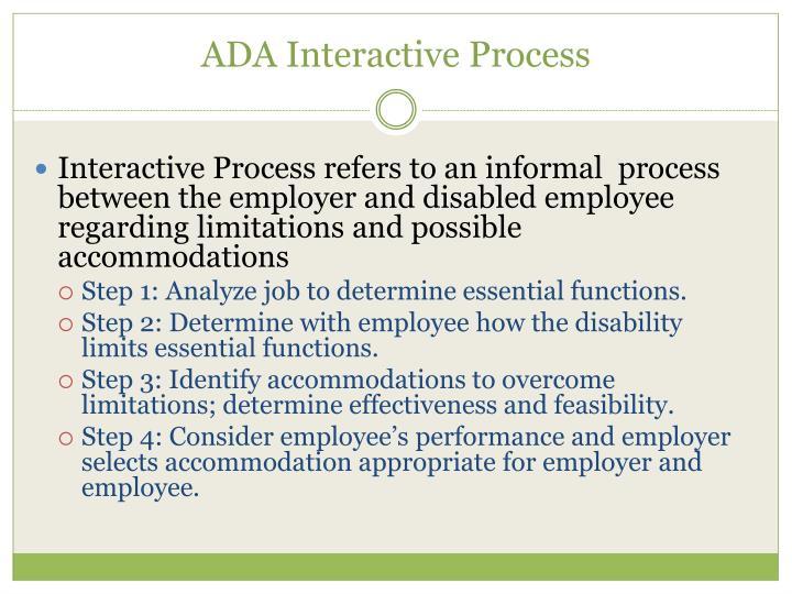 ADA Interactive Process