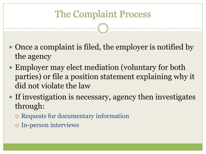 The Complaint Process
