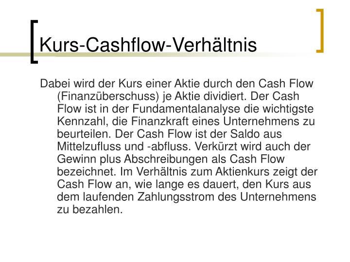 Kurs-Cashflow-Verhältnis