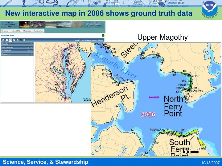 New interactive map in 2006 shows ground truth data