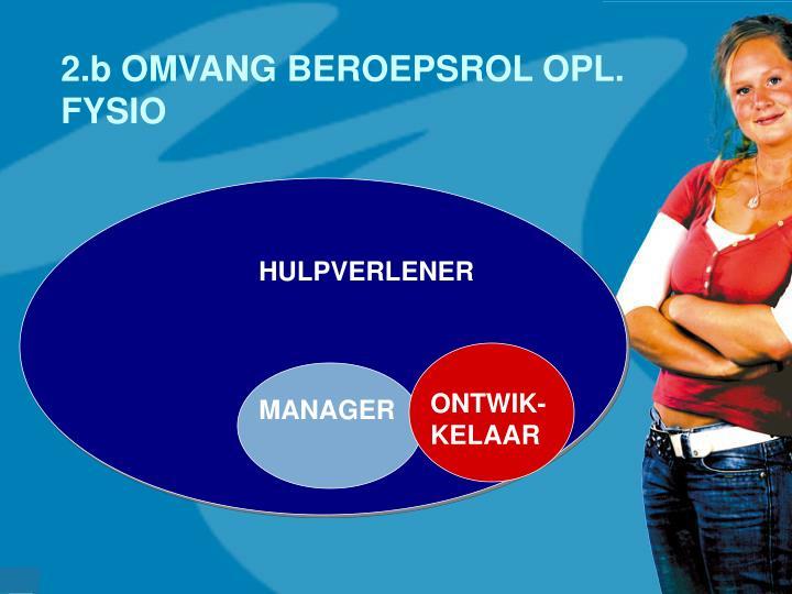 2.b OMVANG BEROEPSROL OPL. FYSIO