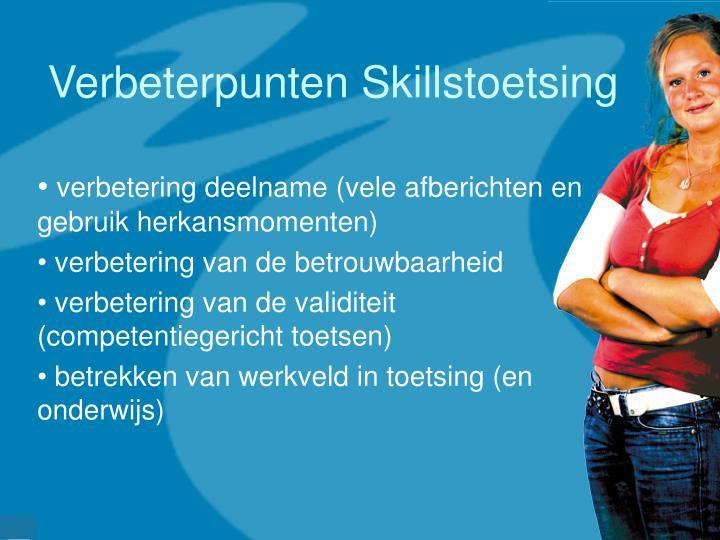 Verbeterpunten Skillstoetsing