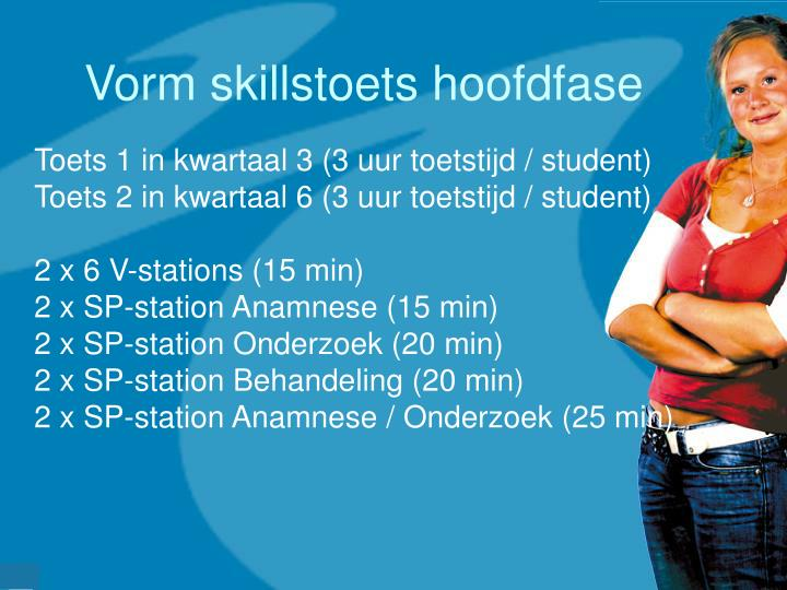 Vorm skillstoets hoofdfase