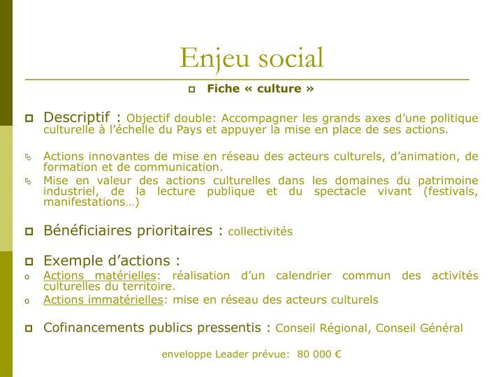 Enjeu social