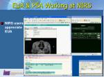 eua psa working at nirs