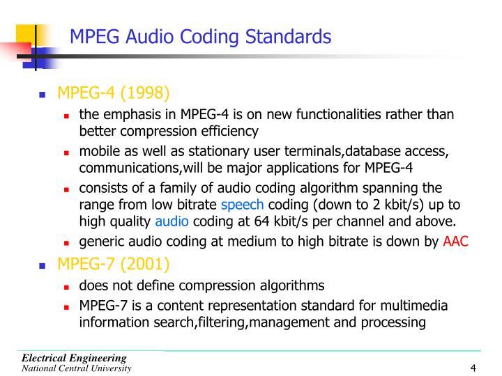 MPEG Audio Coding Standards