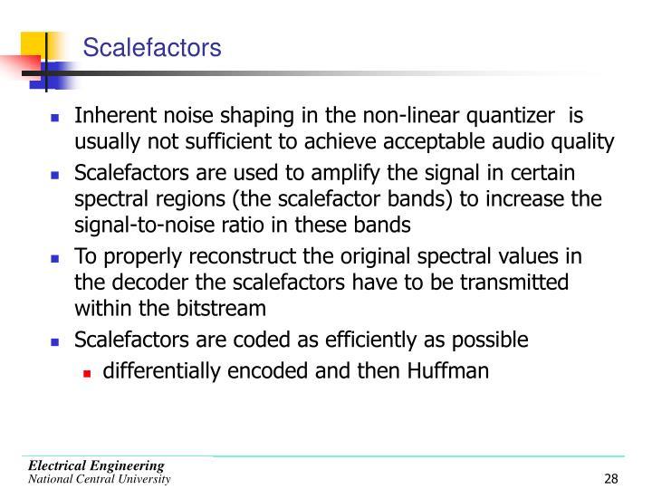 Scalefactors