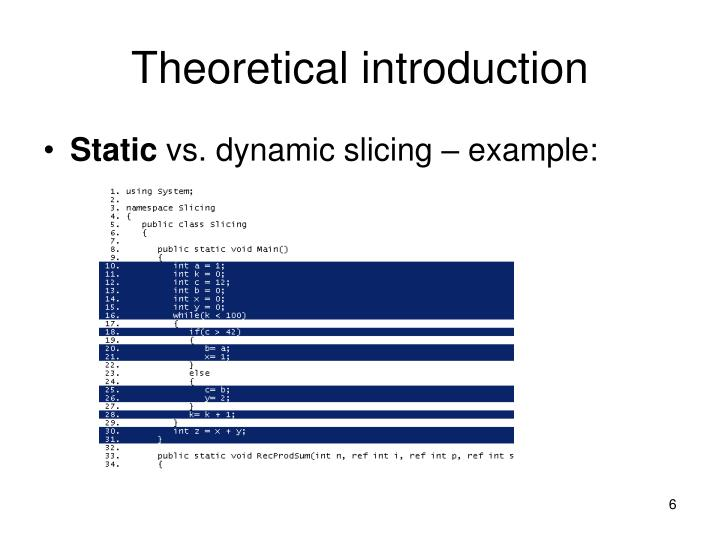 Theoretical introduction