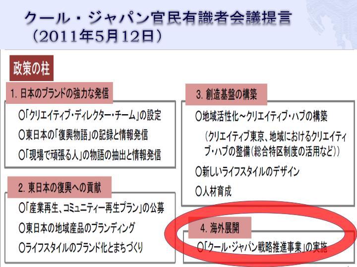 クール・ジャパン官民有識者会議提言(