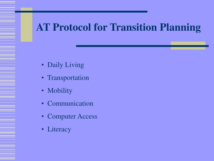 AT Protocol for Transition Planning