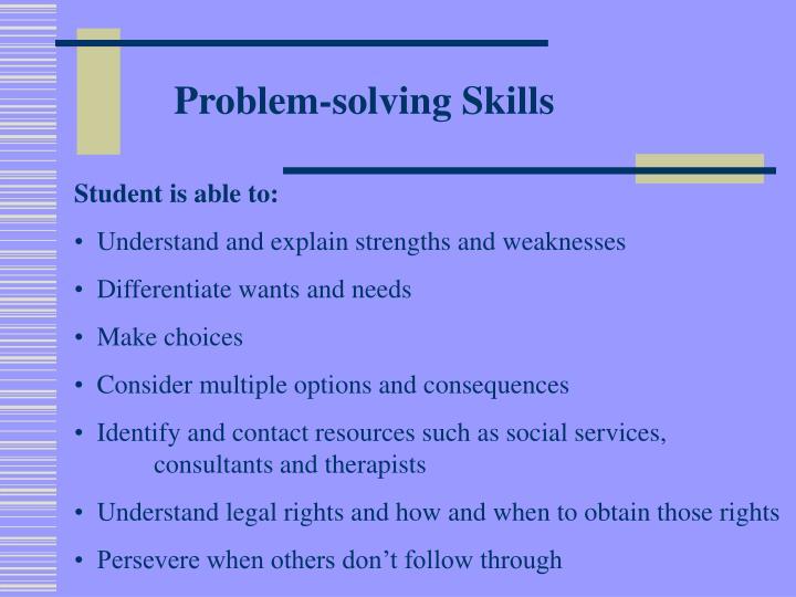 Problem-solving Skills