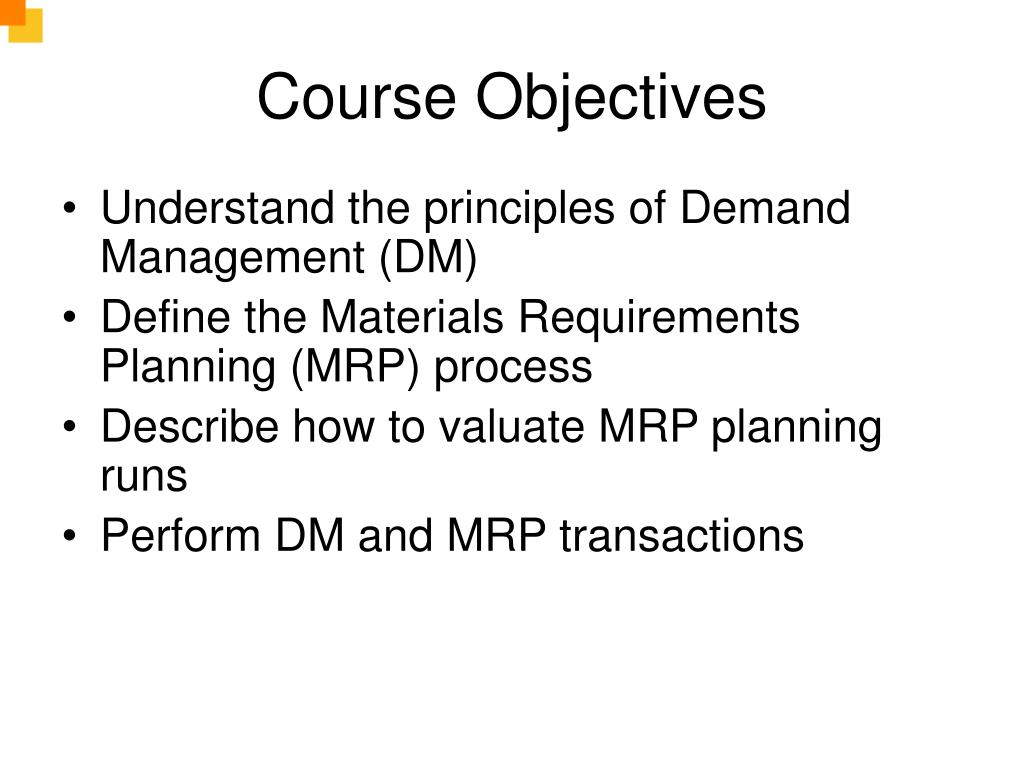 PPT - MRP & Production Planning PowerPoint Presentation - ID