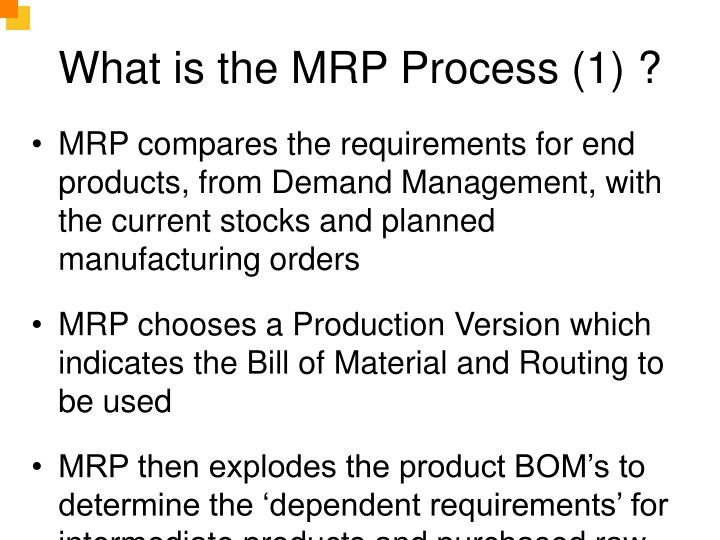 What is the MRP Process (1) ?