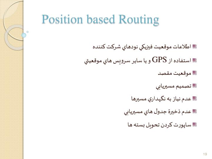 Position based Routing